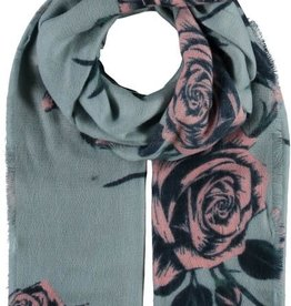 Fraas Foulard bleu -  Roses  # 602017