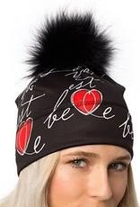 Autrement et Alors Tuque la vie est belle noir-  coeur Rouge