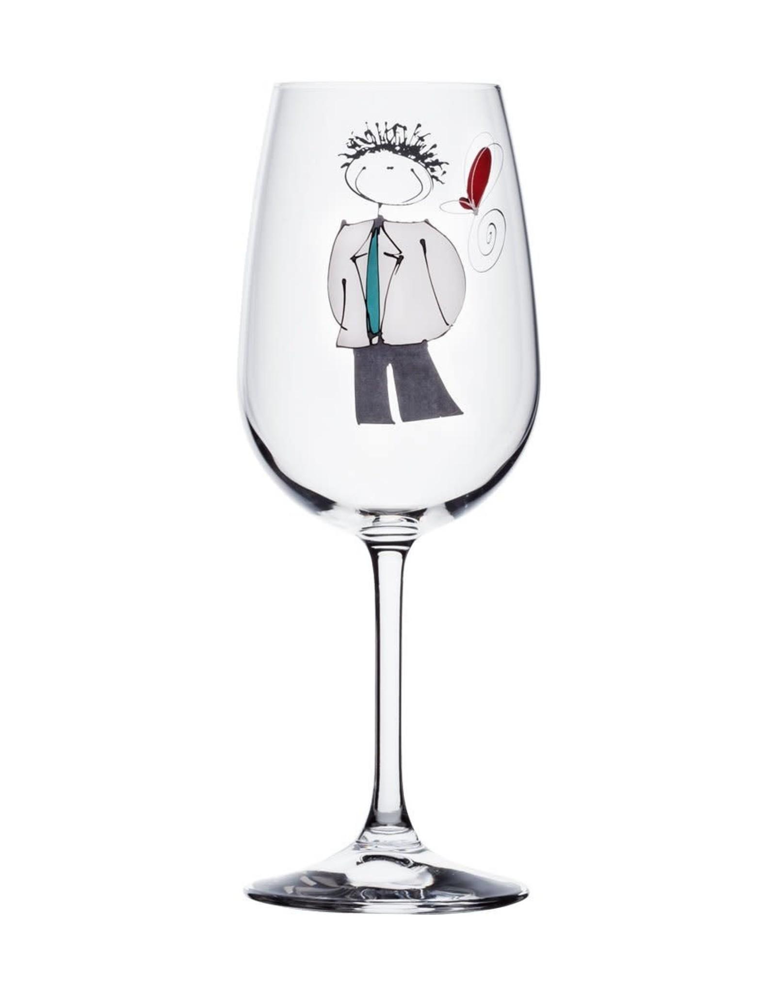 Bizzart & cie Verre à vin Garçon - Amis