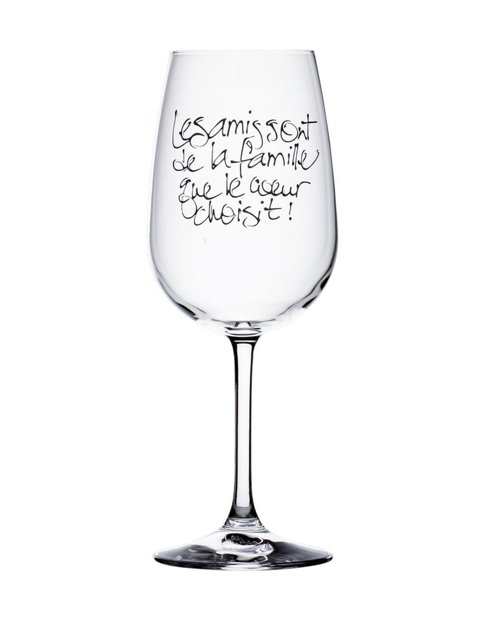 Bizzart & cie Verre à vin  robe Blanche   - Amis
