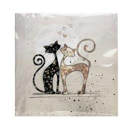 Serviette de Table -  chat  Amoureux