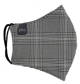 Jak's Masque Adulte plaid noir & blanc