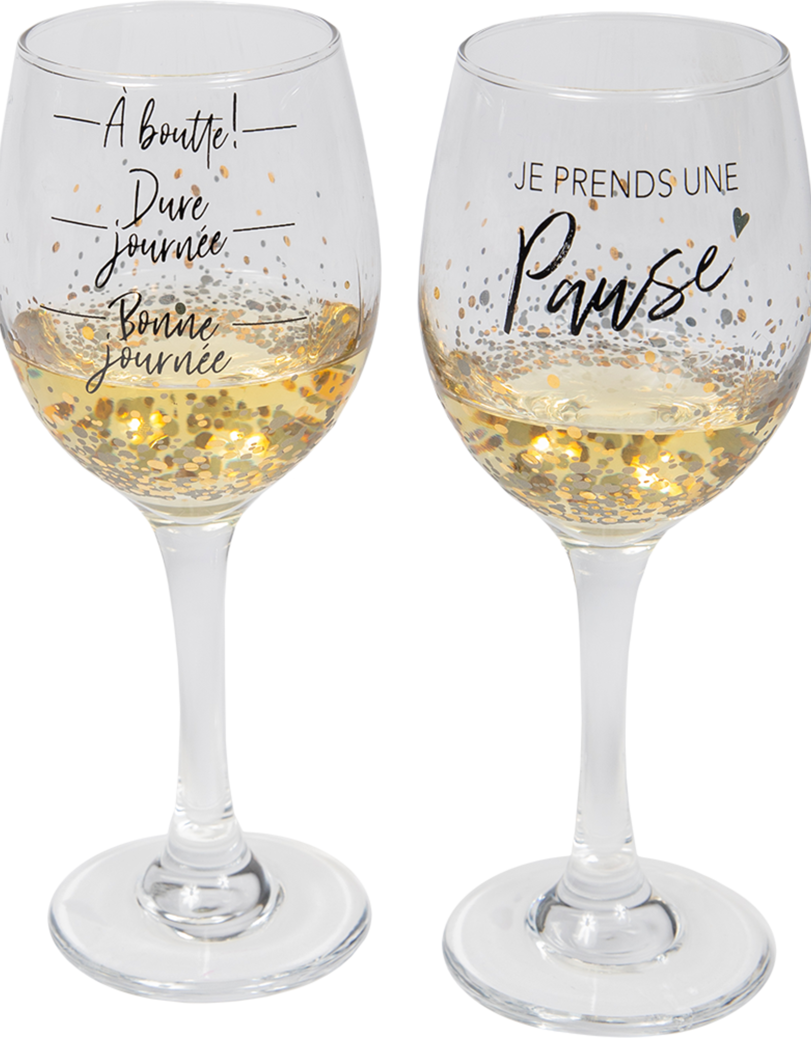 Chantal Lacroix Ensemble verre à vin - Pause bien méritée