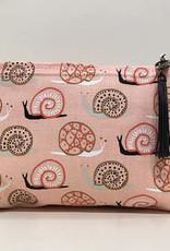 Petite trousse escargot rose