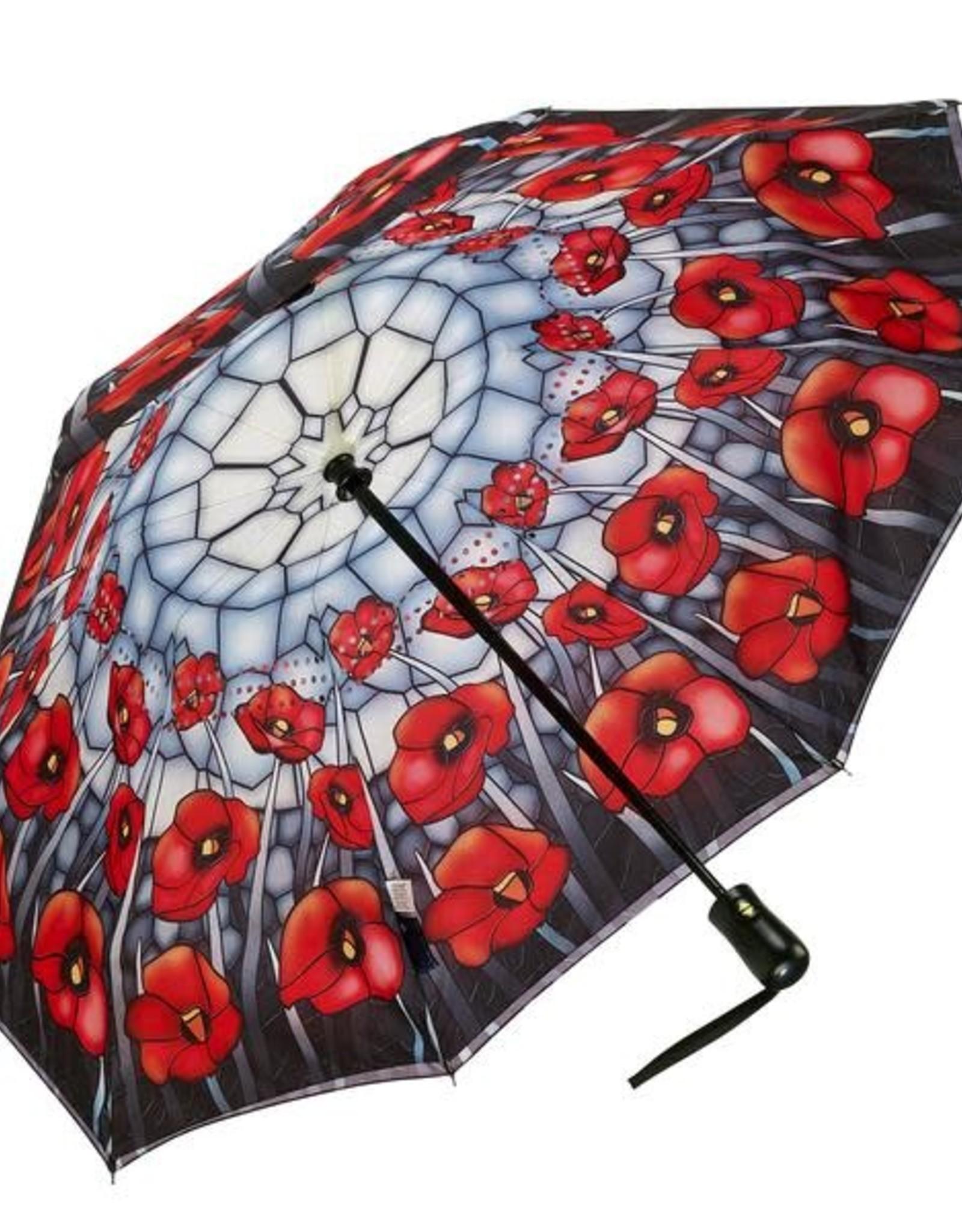 Petit parapluie pavot rouge