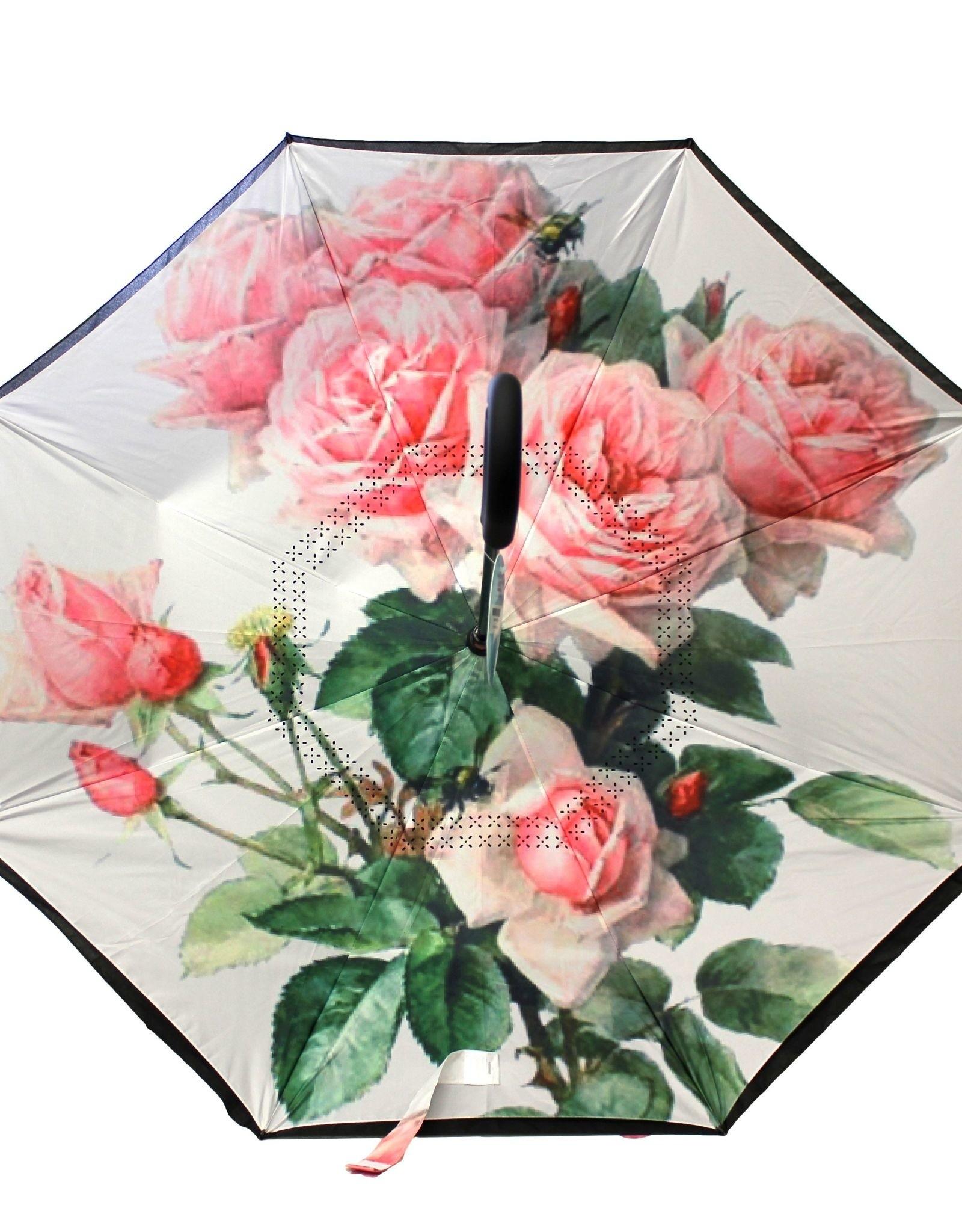 Parapluie Rose et blanc