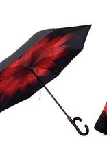 Parapluie fleur rouge
