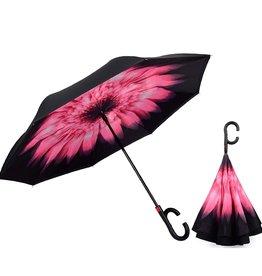Parapluie fleur rose