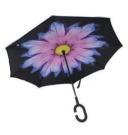 Parapluie fleur mauve