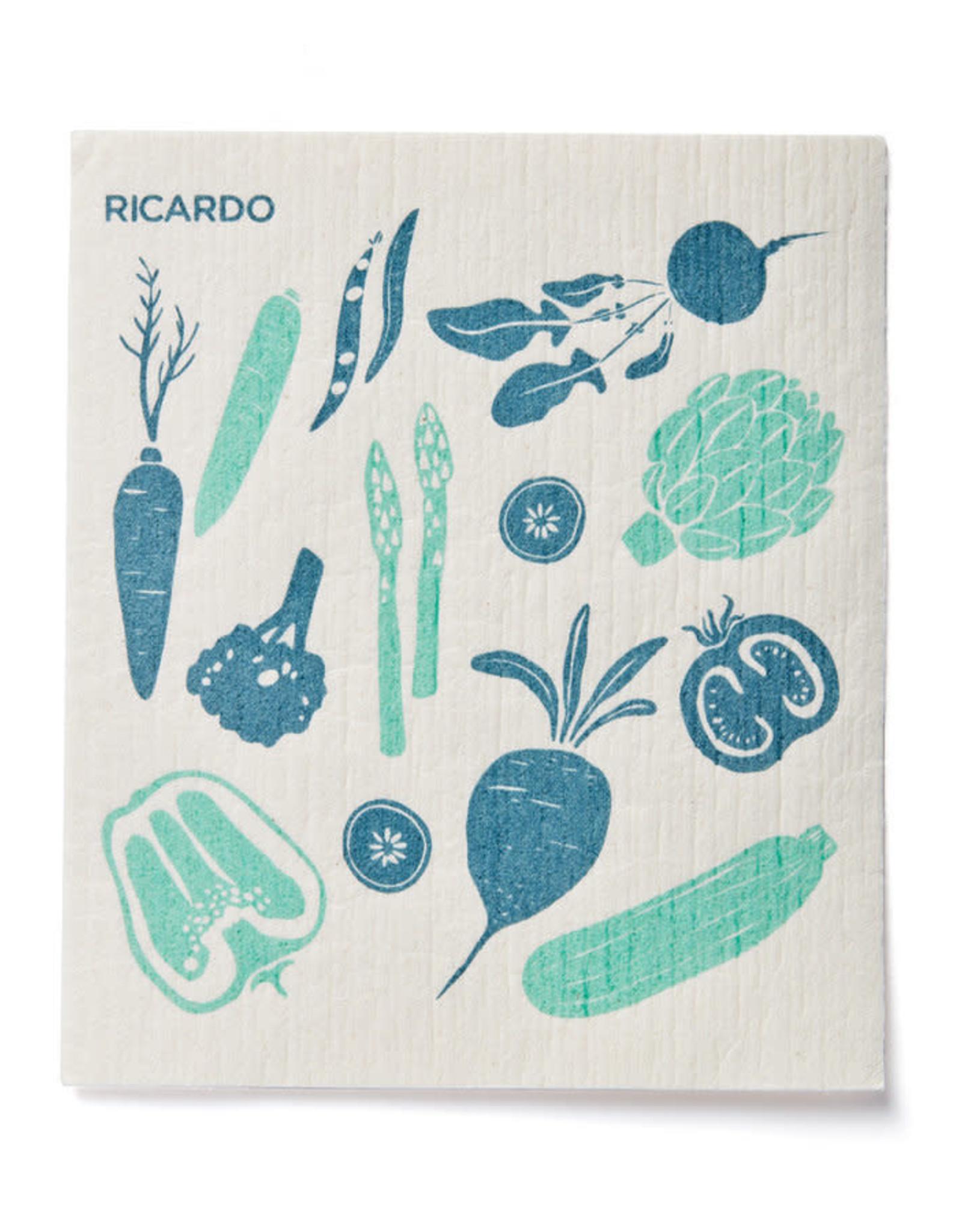 Ricardo Chiffon réutilisable 2pcs - bleu
