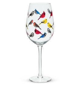 Verre à vin oiseau