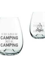 """La maison du bar Verre sans pied  """" passe au camping reste au camping """""""