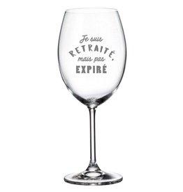 La maison du bar Verre à vin - Retraité mais pas expiré