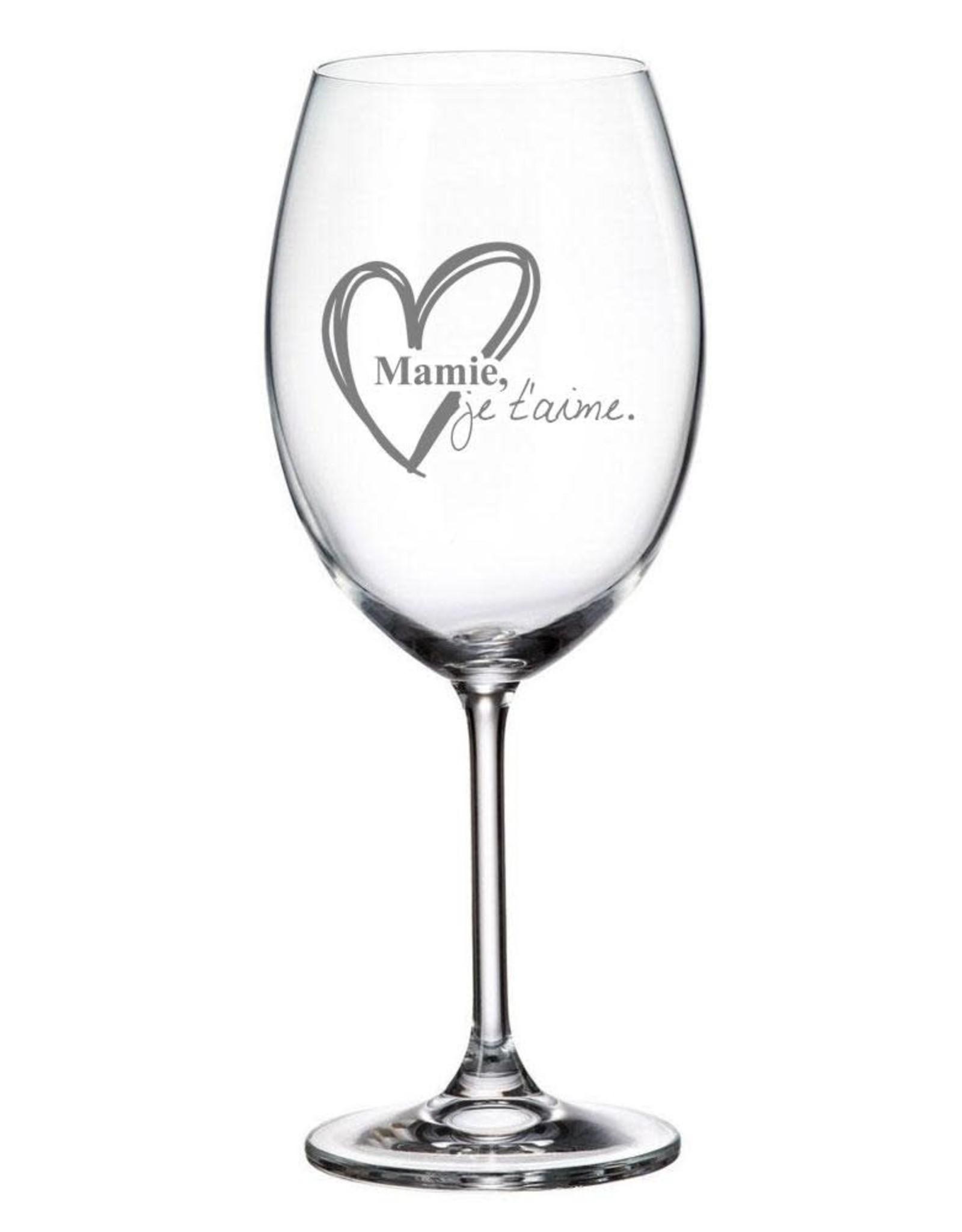 La maison du bar Verre à vin - Mamie je t'aime