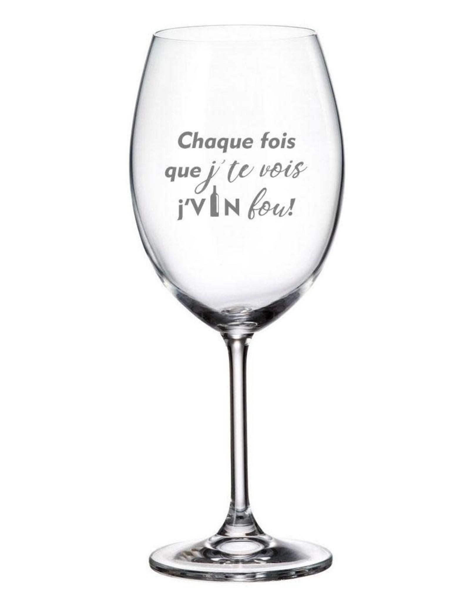 """La maison du bar Verre à vin  """" Vin fou """""""