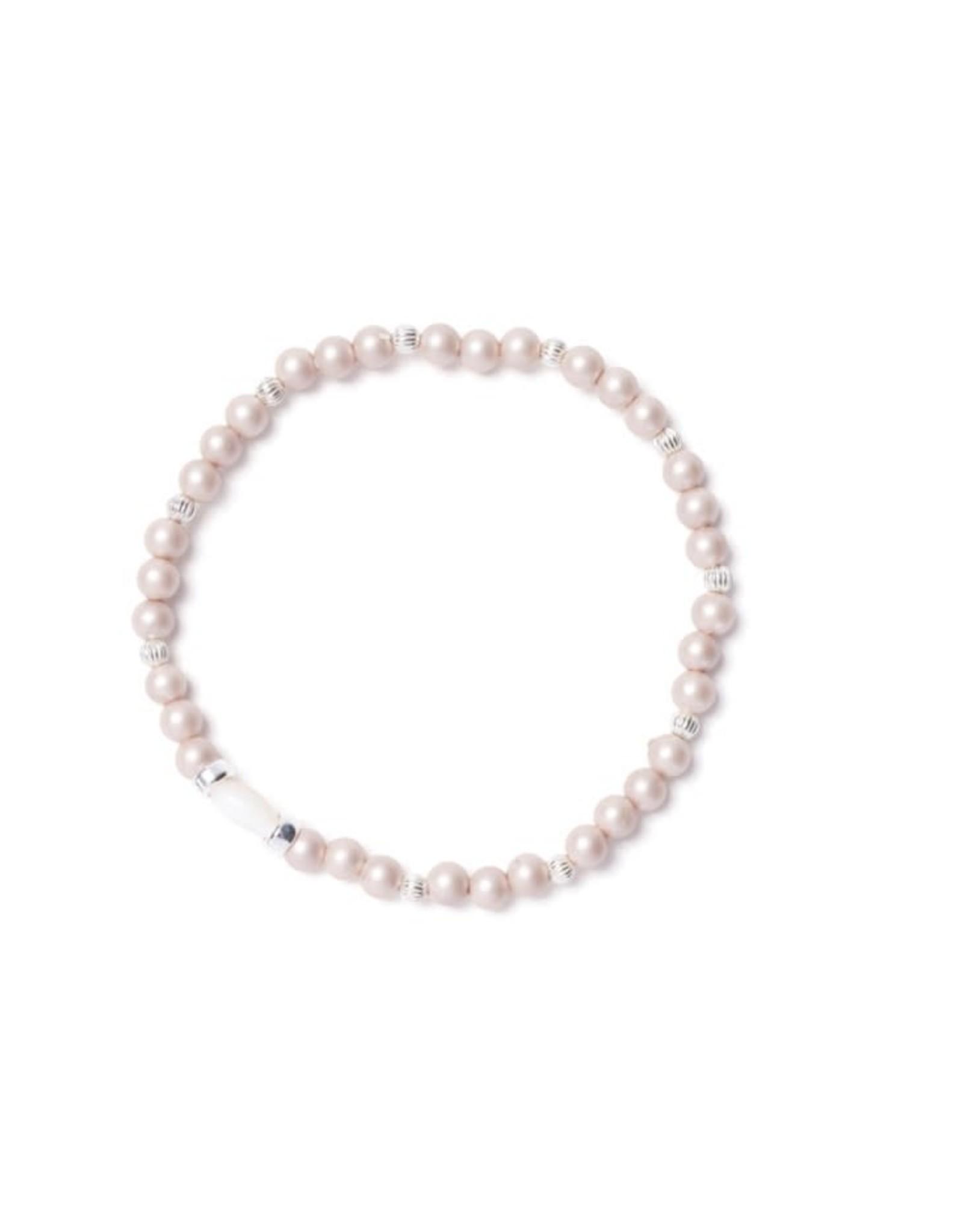 Beblue Bracelet Be Sensitive perle crème mat