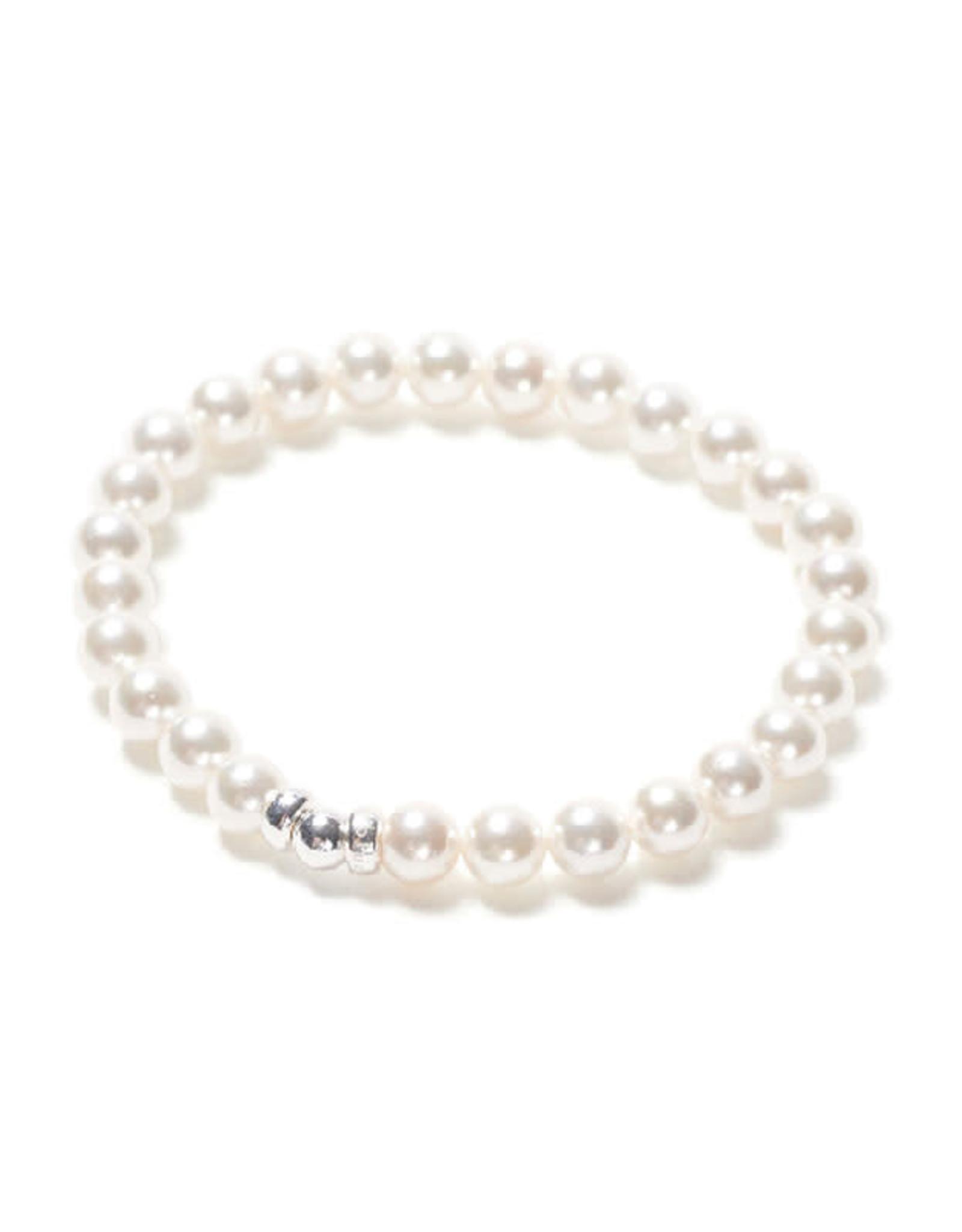 Beblue Bracelet Be classic - perle blanche