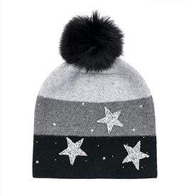 Tuque étoile - noir