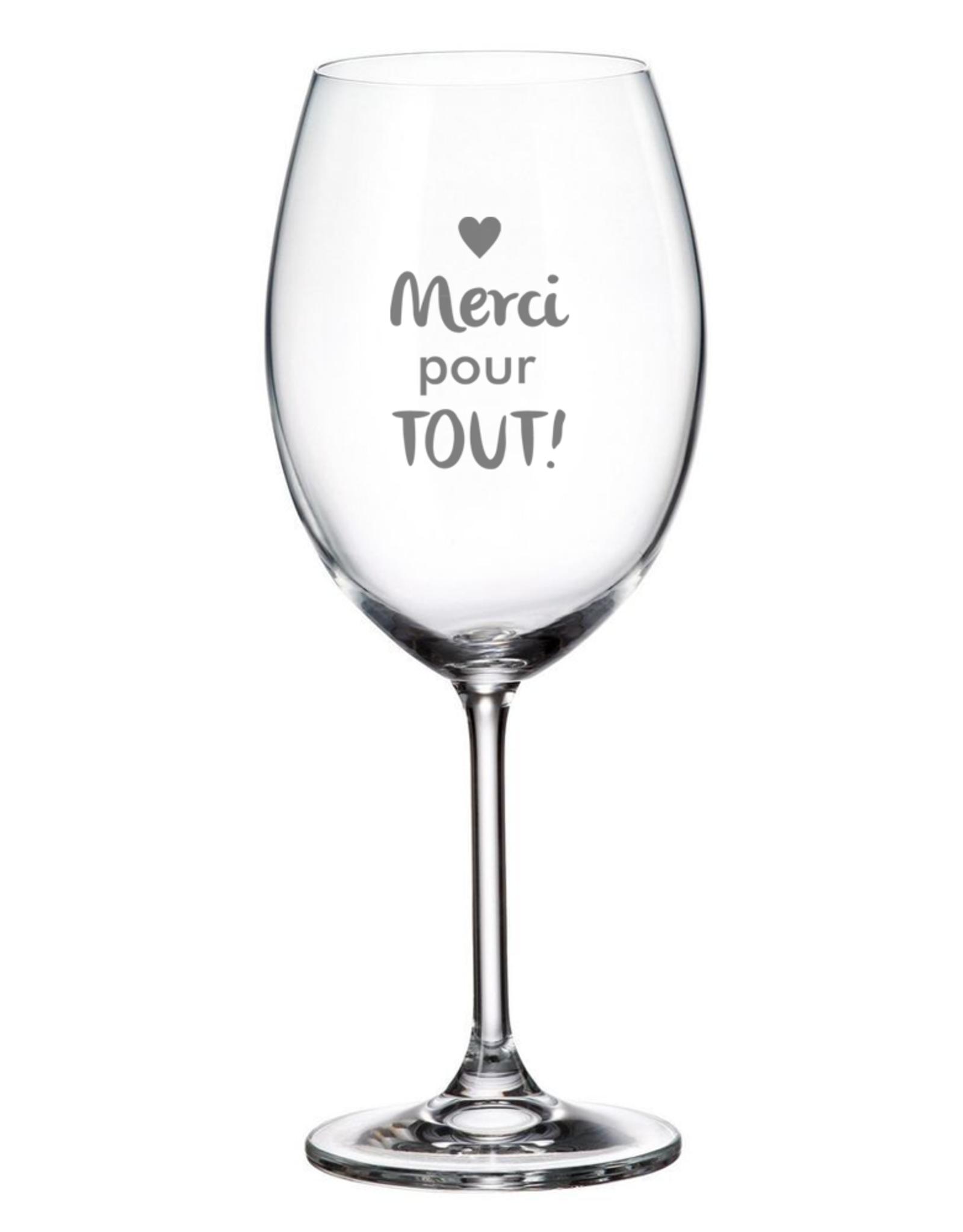 La maison du bar Verre à vin  - merci pour tout !