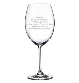 La maison du bar Verre à vin - Une maman c'est ...