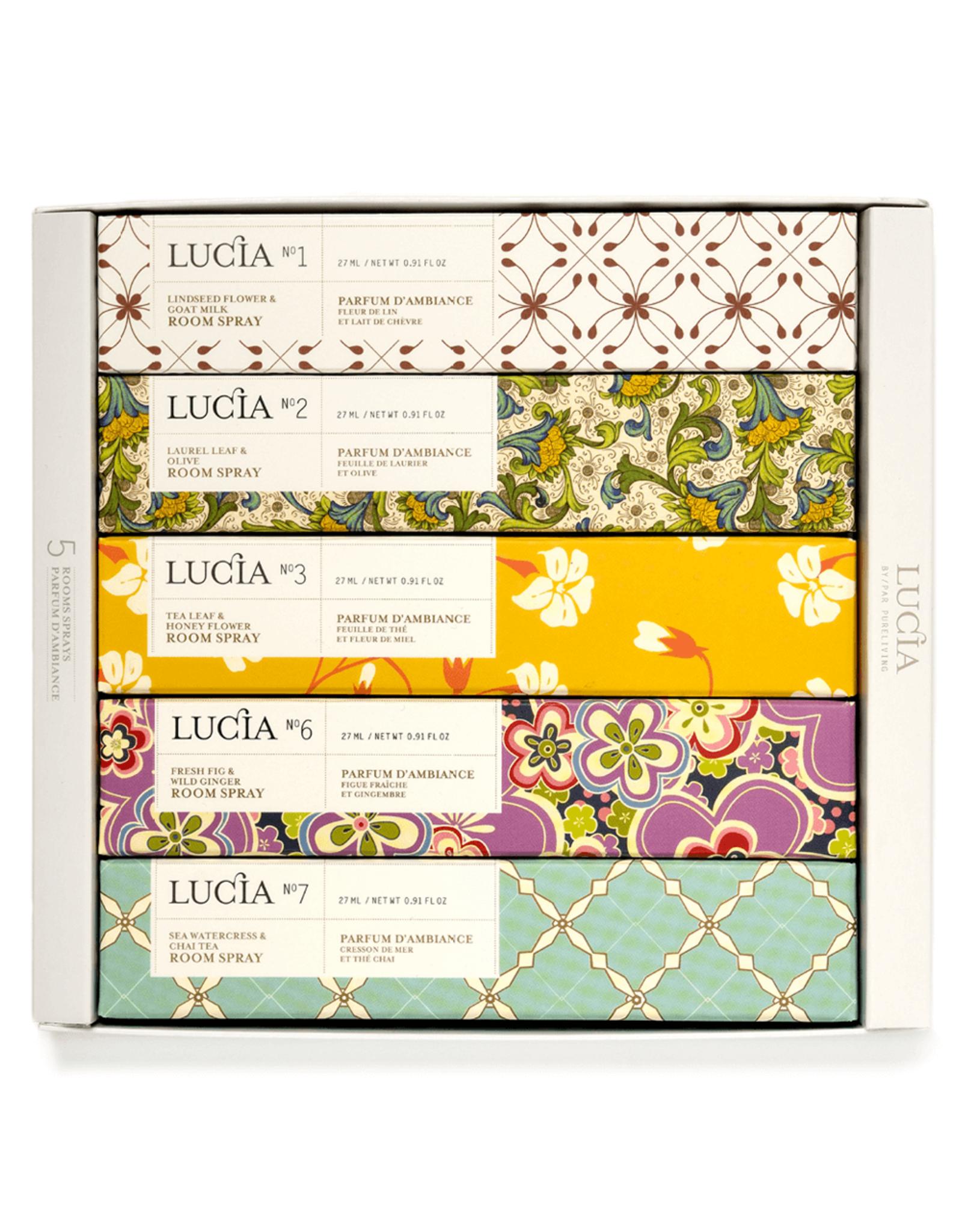 Lucia  par  Pure Living Coffret 5 parfums d'ambiance