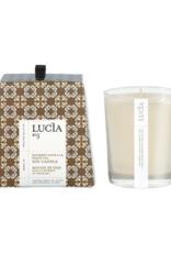 Lucia  par  Pure Living Bougie de soja Vanille et thé blanc  50hr