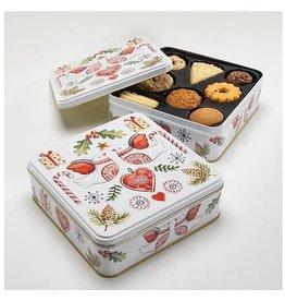 Boîte biscuits oiseaux de noël