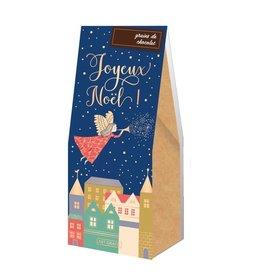 Grains de chocolat  - Joyeux Noël  bleu