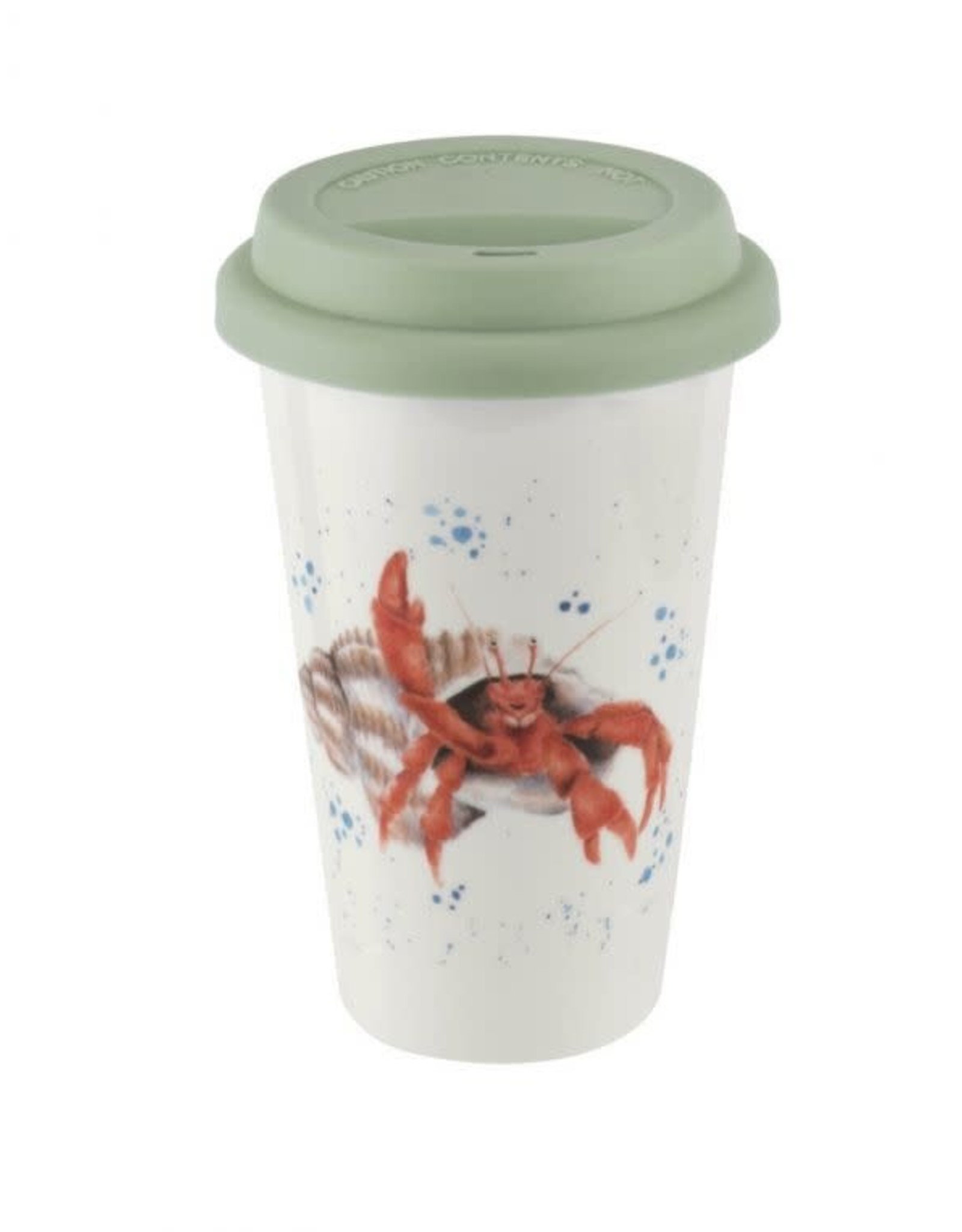 wrendale Tasse  double paroi + couvercle - Crabe