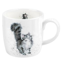 wrendale Tasse chatte grise- Lady of the house