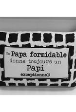 Fabrique Champêtre Coussin un papa= papi