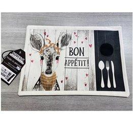 Fabrique Champêtre Napperon lunch cerf - appétit