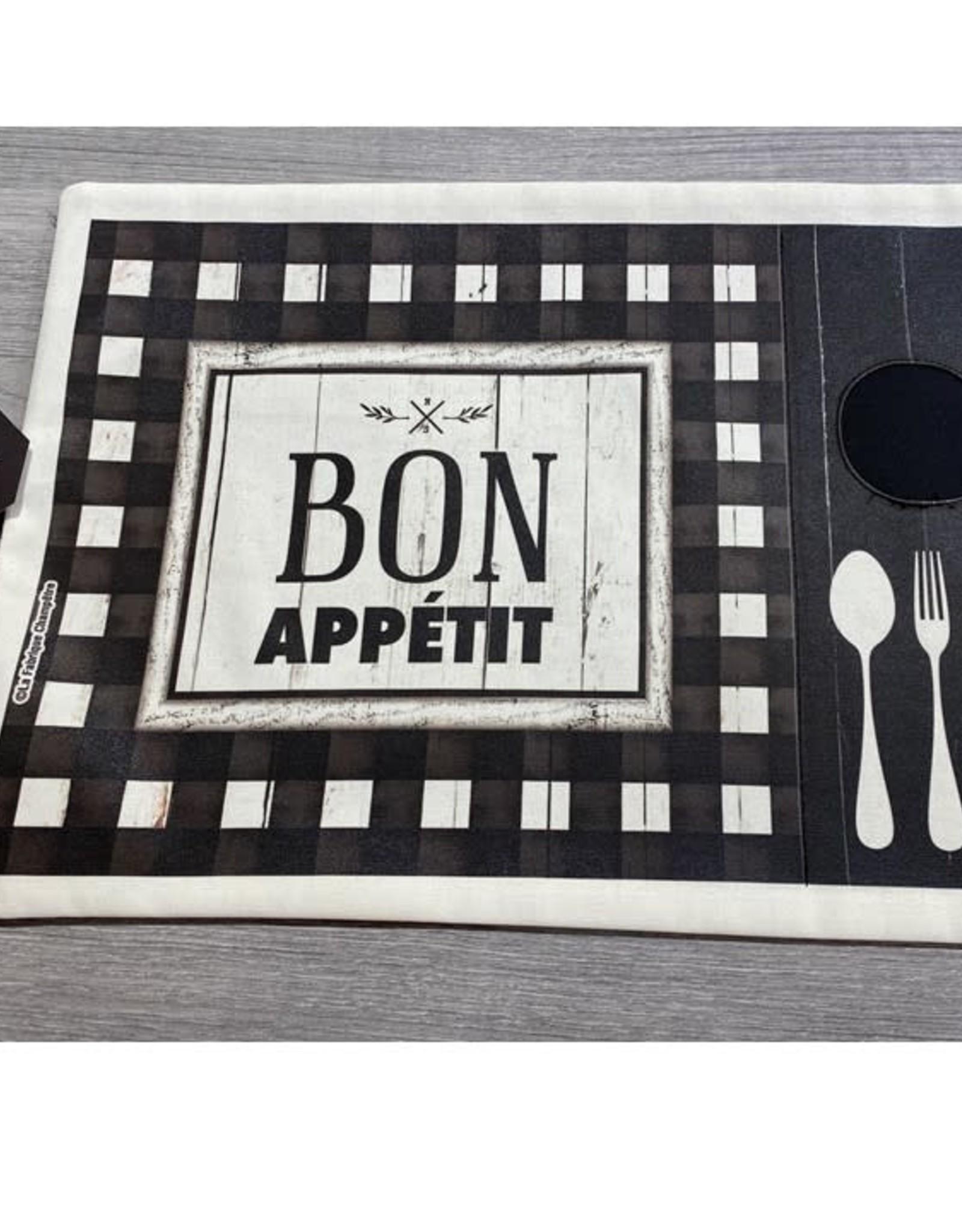 Fabrique Champêtre Napperon lunch noir & blanc - Appétit