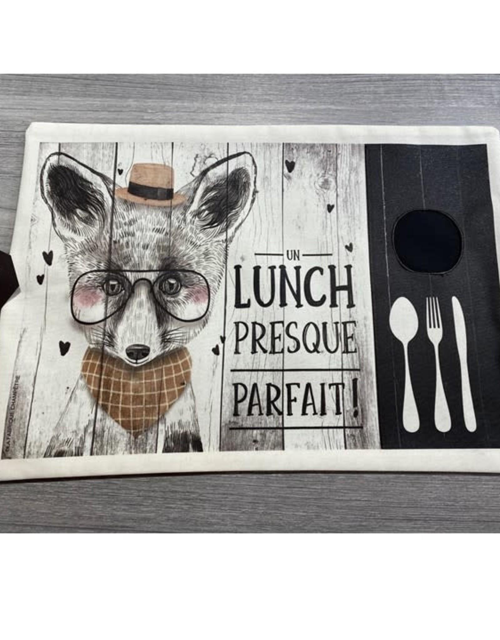 Fabrique Champêtre Napperon lunch renard - parfait