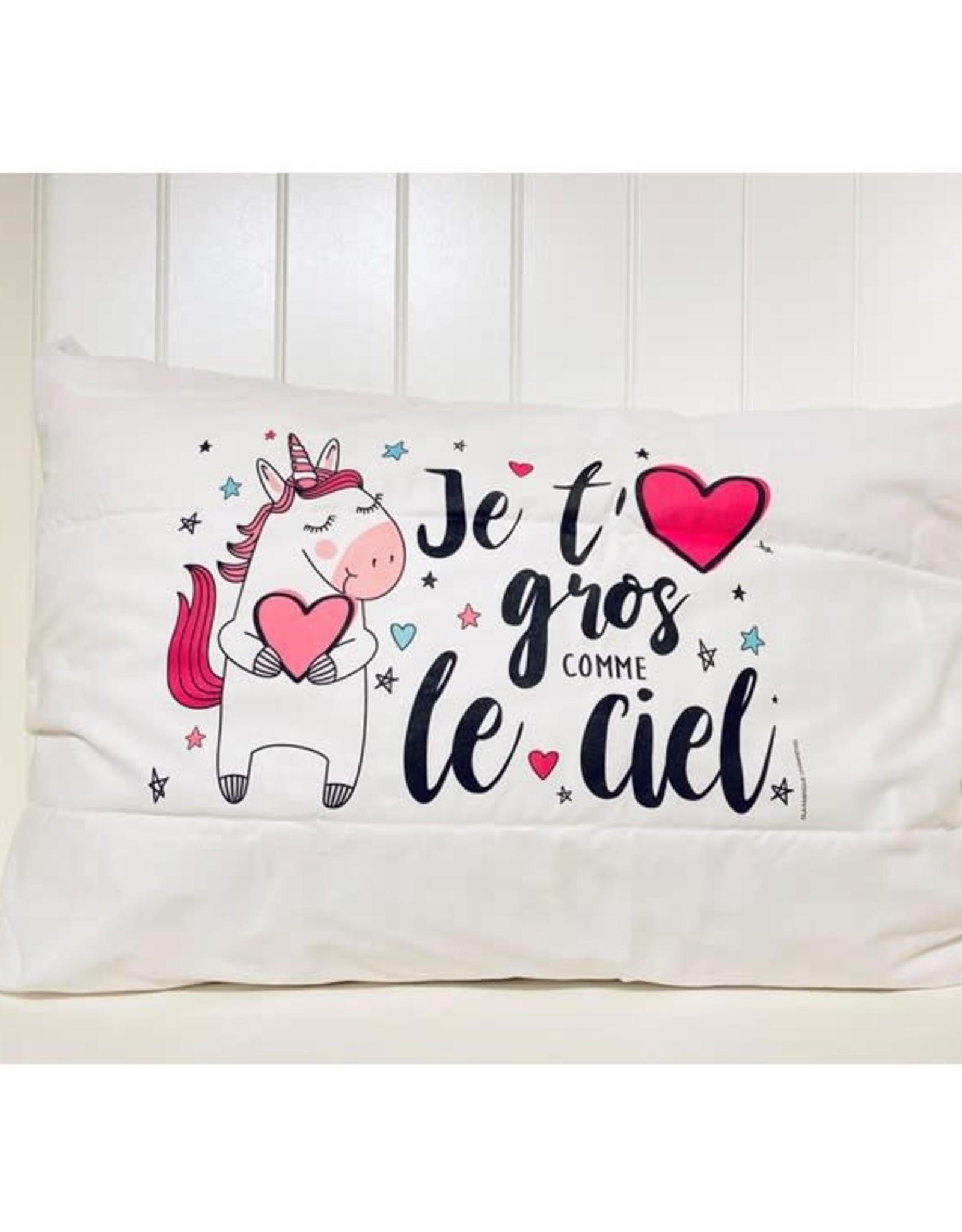 Fabrique Champêtre Taie d'oreiller - Licorne