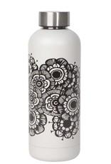 Bouteille fleur noir & Blanc