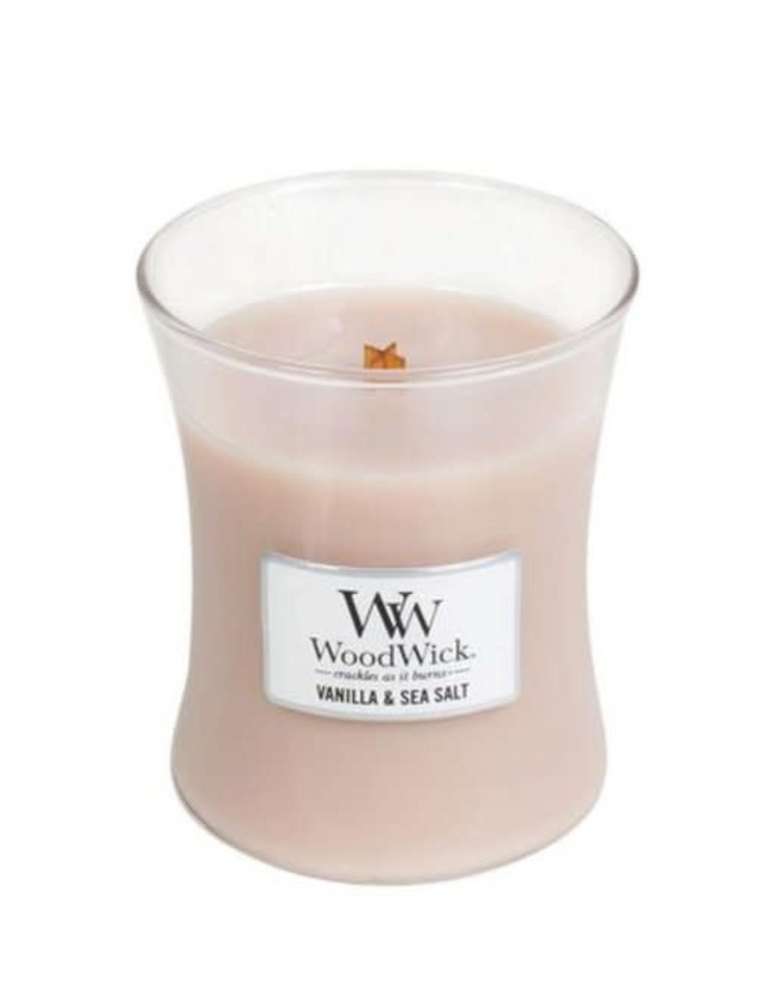 Woodwick Bougie vanille & sea salt