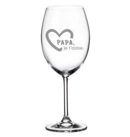 La maison du bar Verre à vin Papa je t'aime