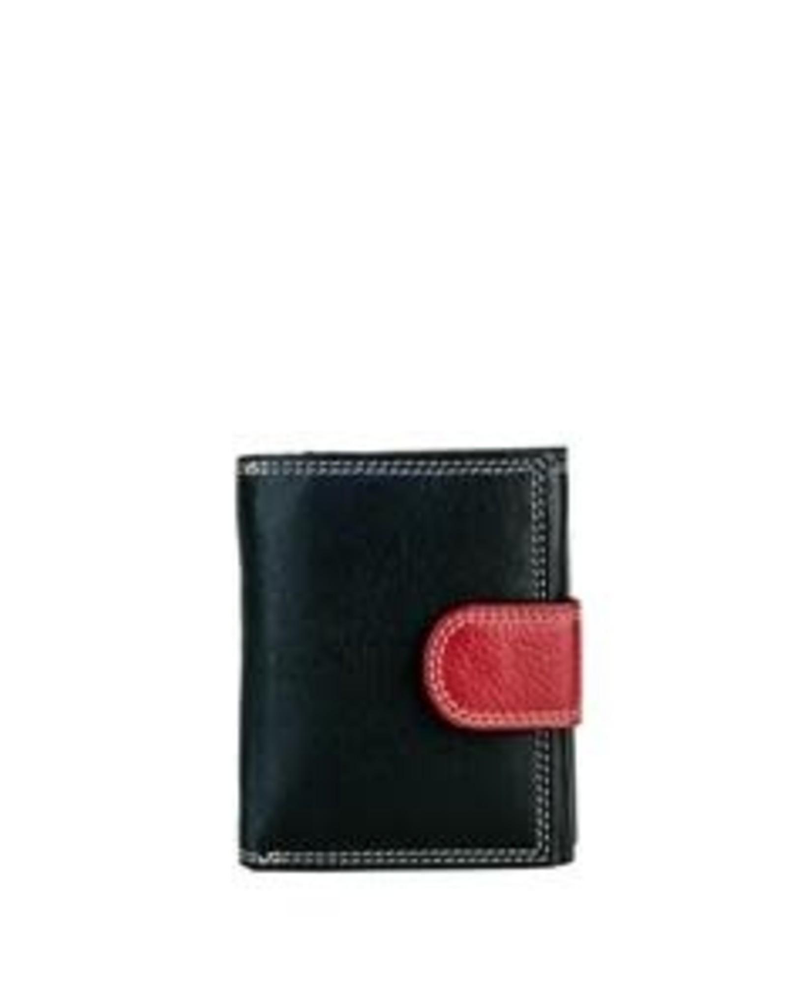Petit portefeuille noir et rouge # 2198