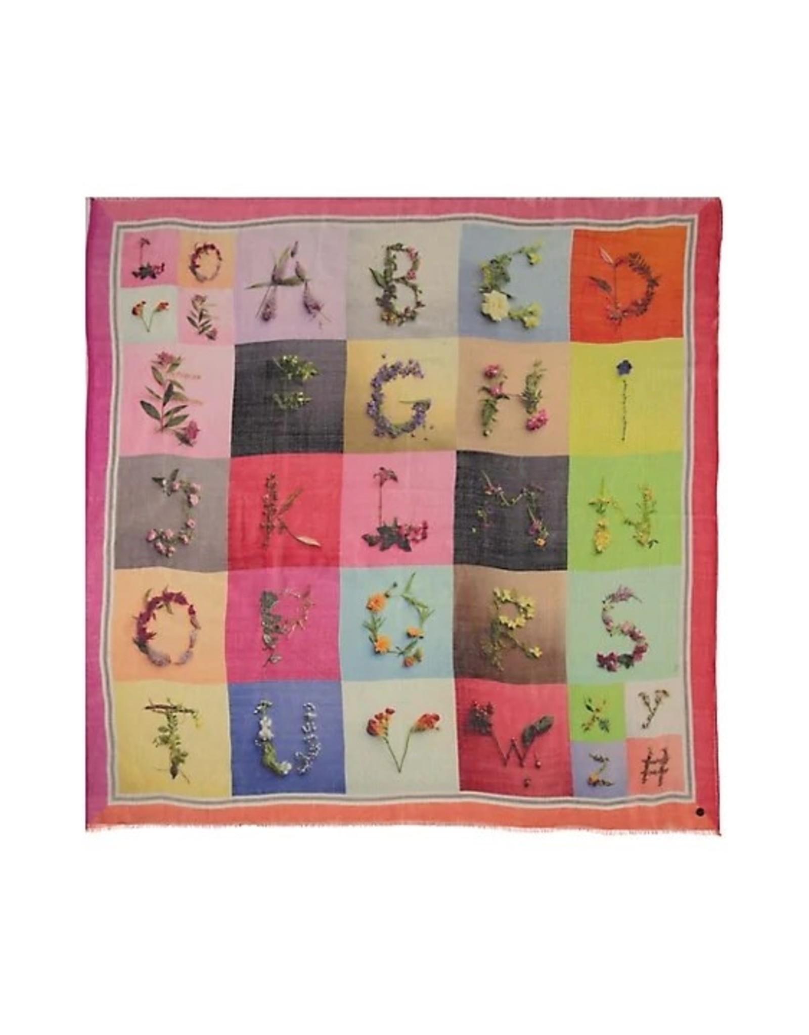 Fraas Foulard lettre multicolore