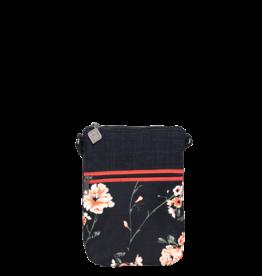Jak's Pochette de marche noir fleuri