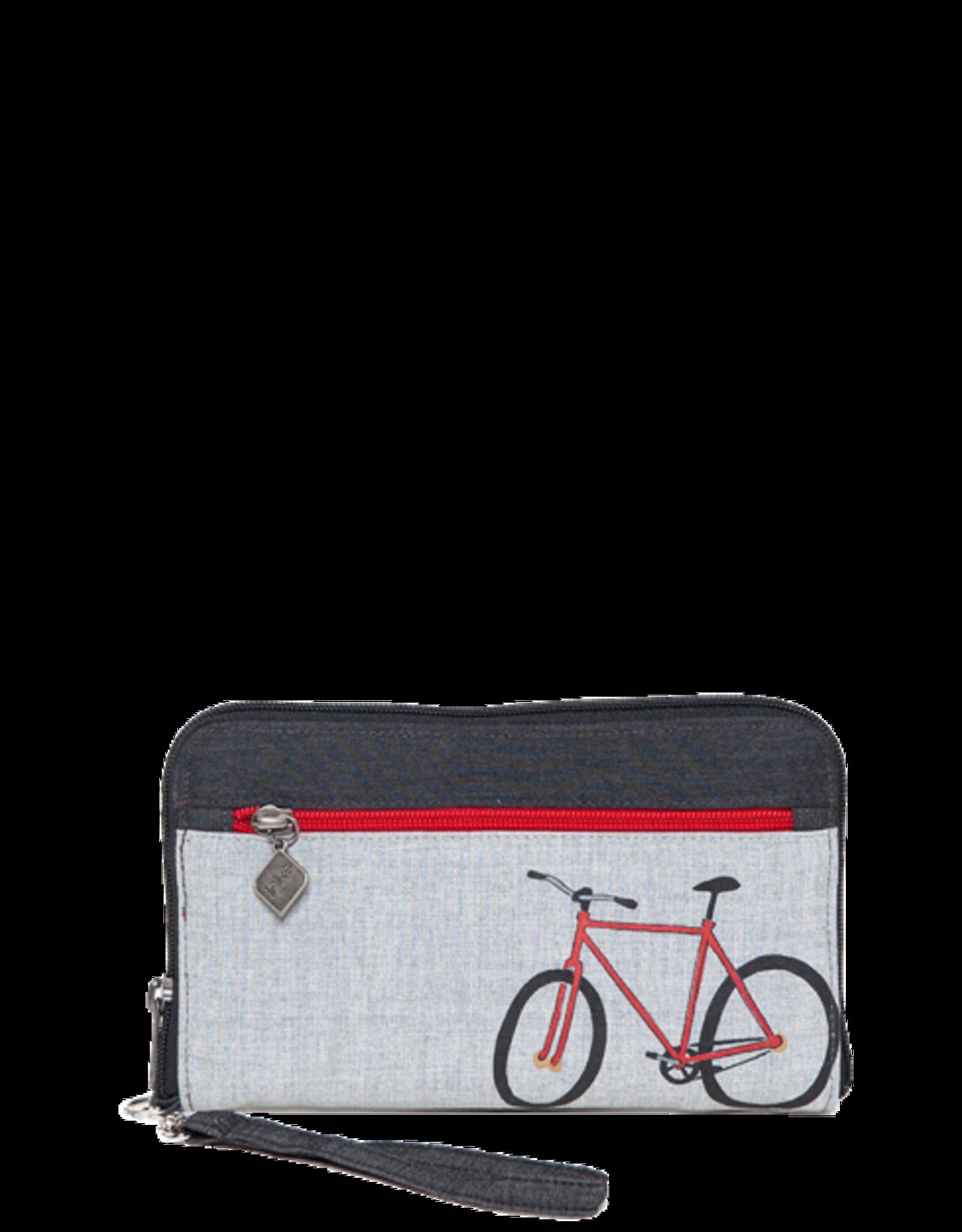 Jak's Portefeuille vélo rouge