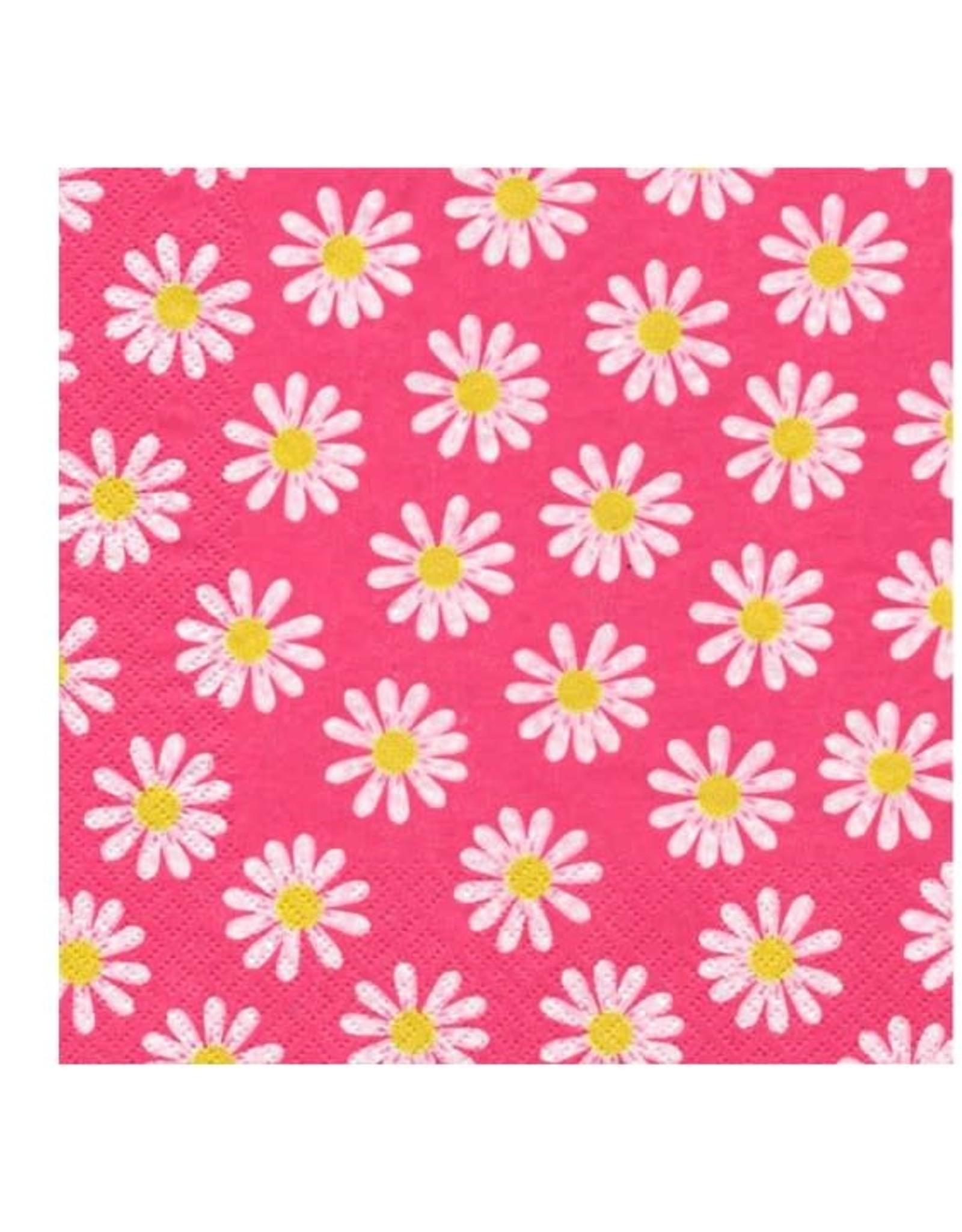 Serv. table fleuri rose