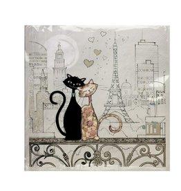 Serviette de Table -  chat Paris