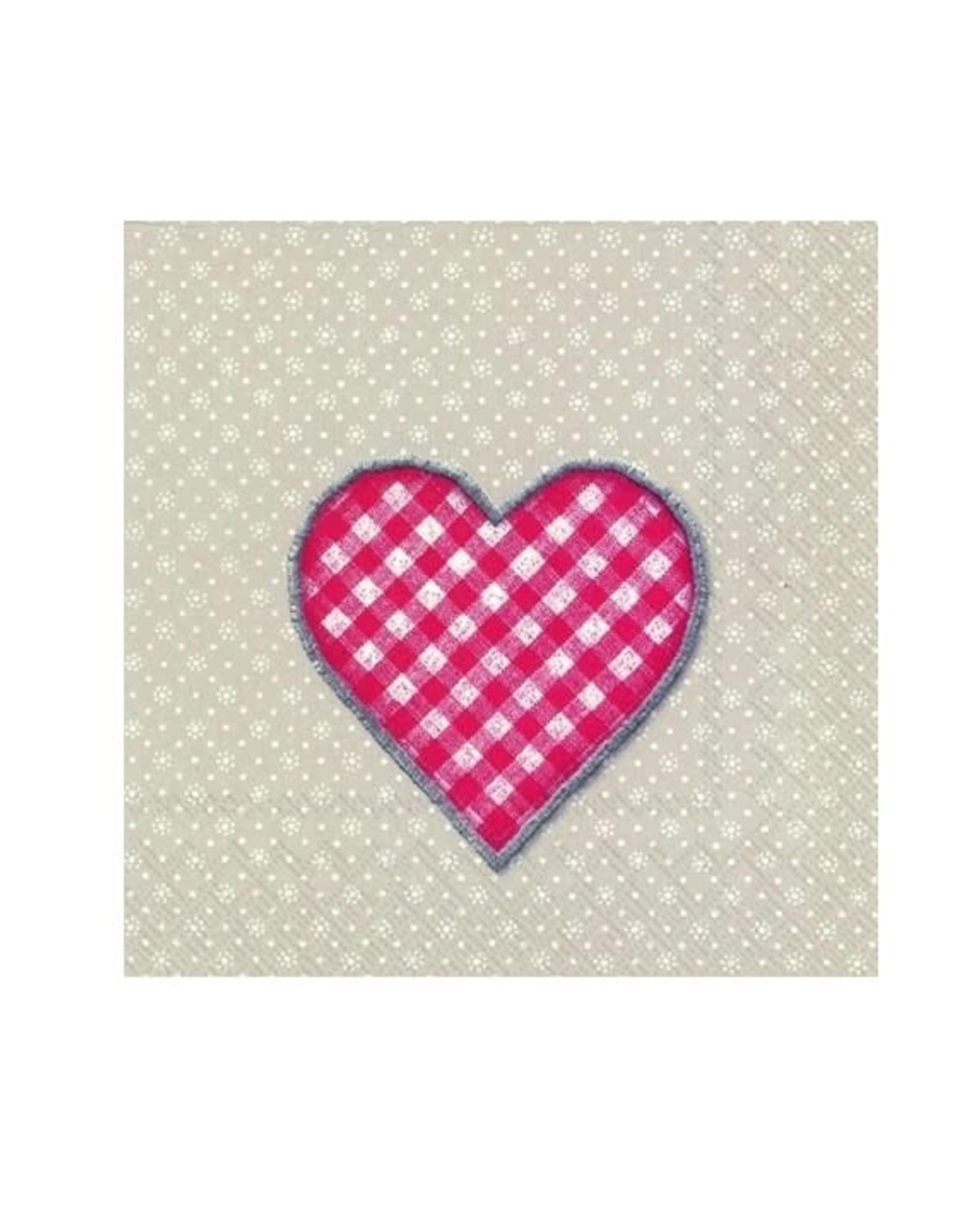 Petite serviette de table coeur