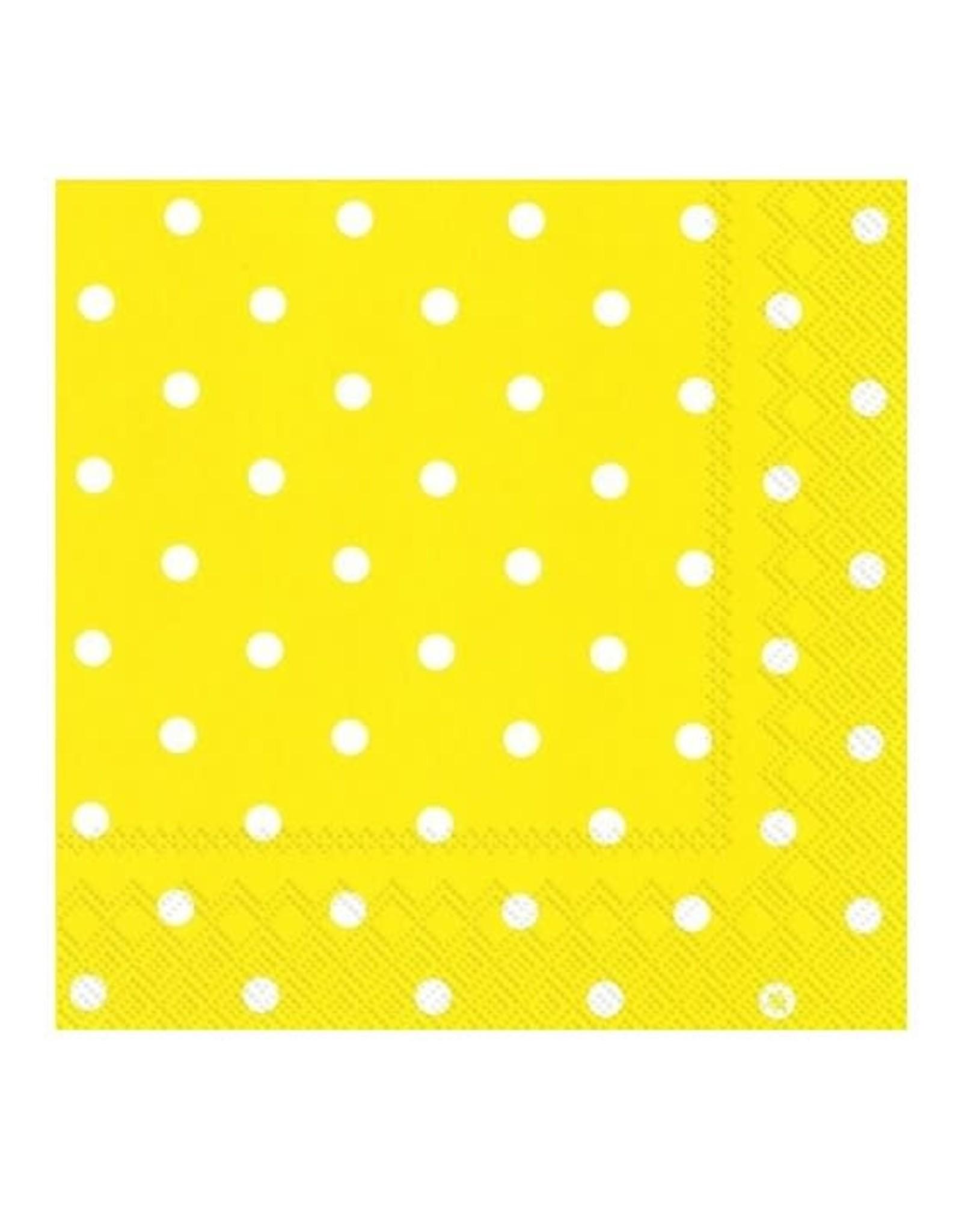 Serv. Table jaune à pois