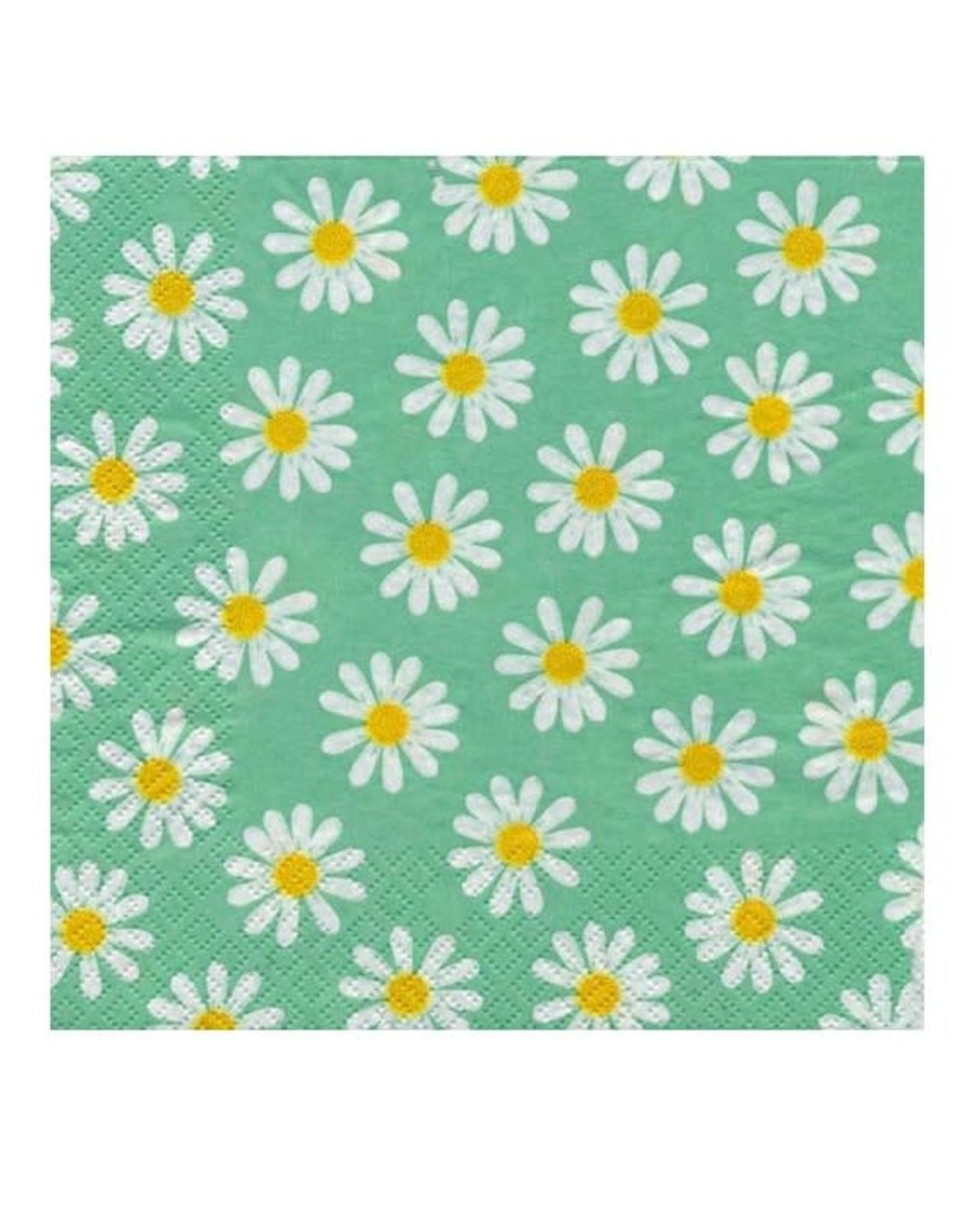 Serv. Table fleuri vert + marguerite