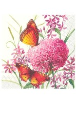 Serv. Table papillon + hydrangé