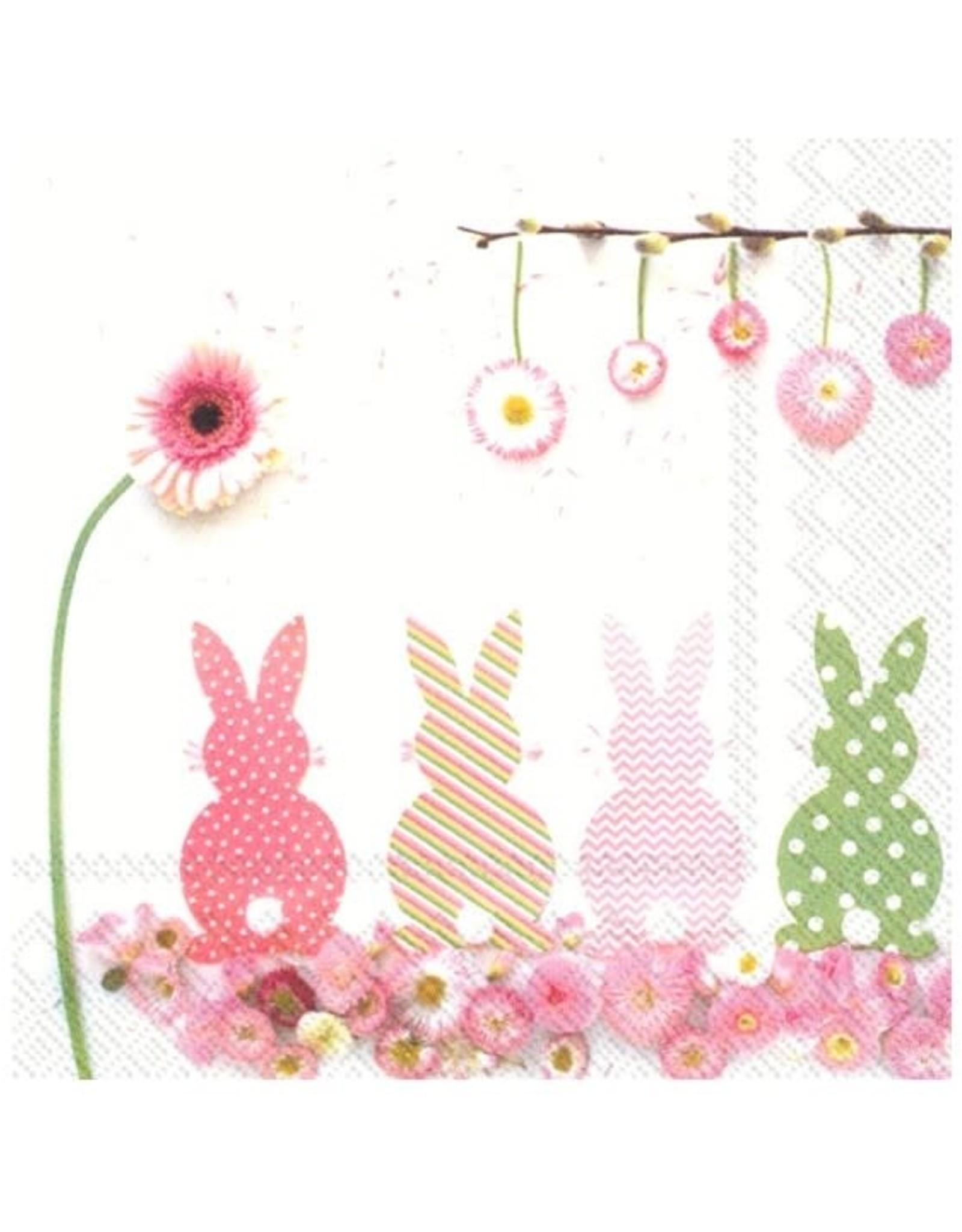 Serv. Table Lapins + fleurs