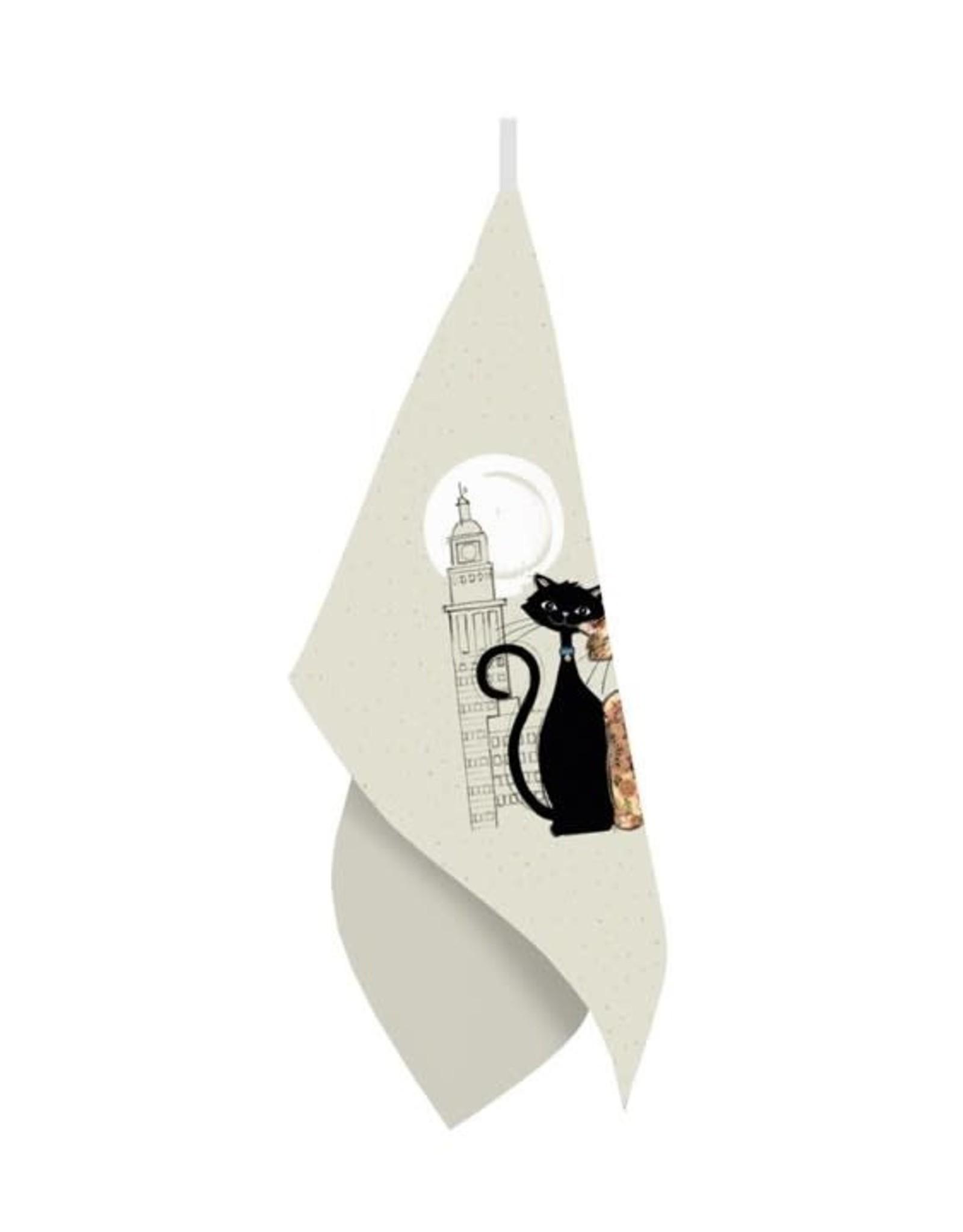 Linge à vaisselle chat Paris